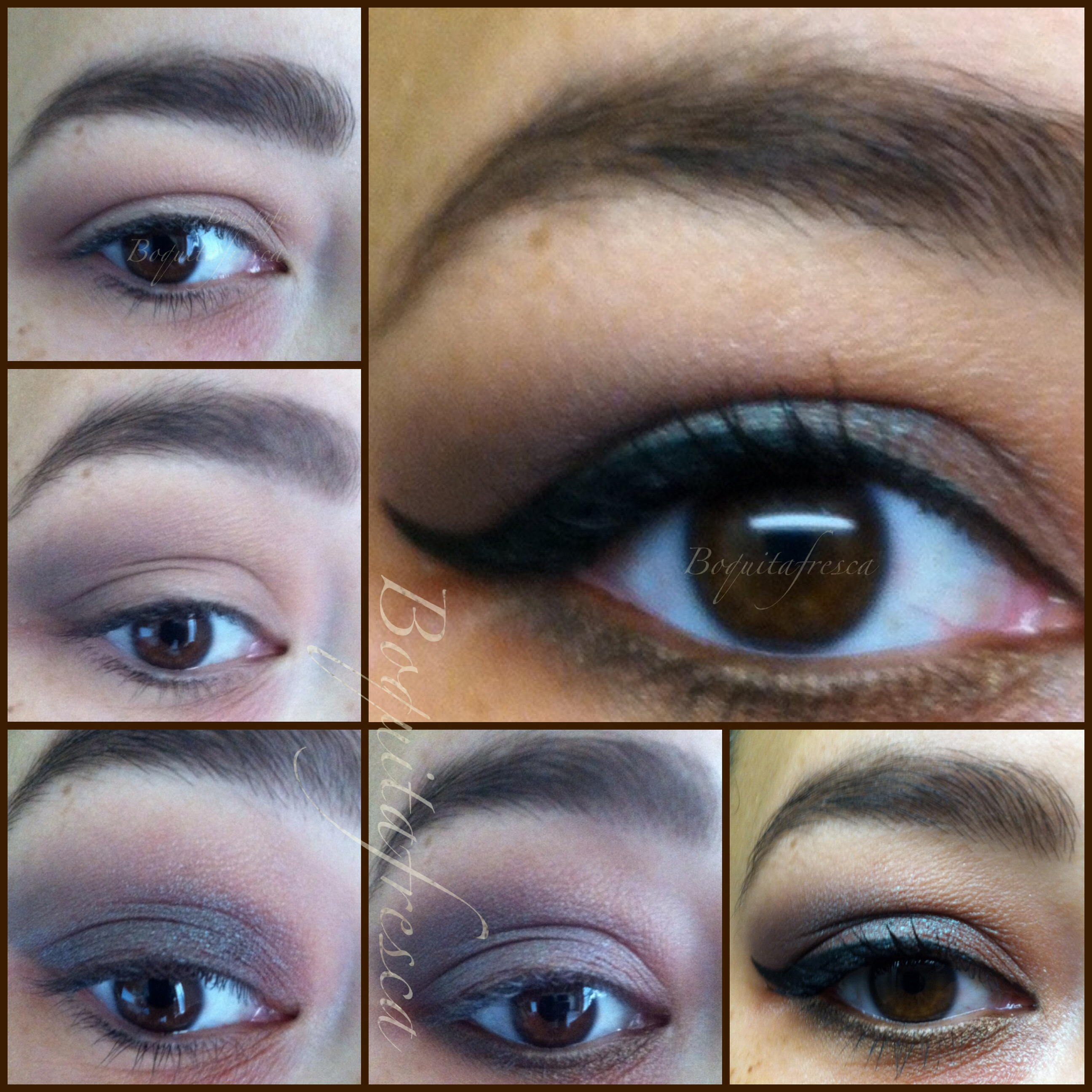 Smokey Green Purple And Brown Party Eye Makeup Pictorial